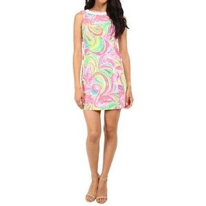 Mila Multi All Nighter Print Lace Detail Shift